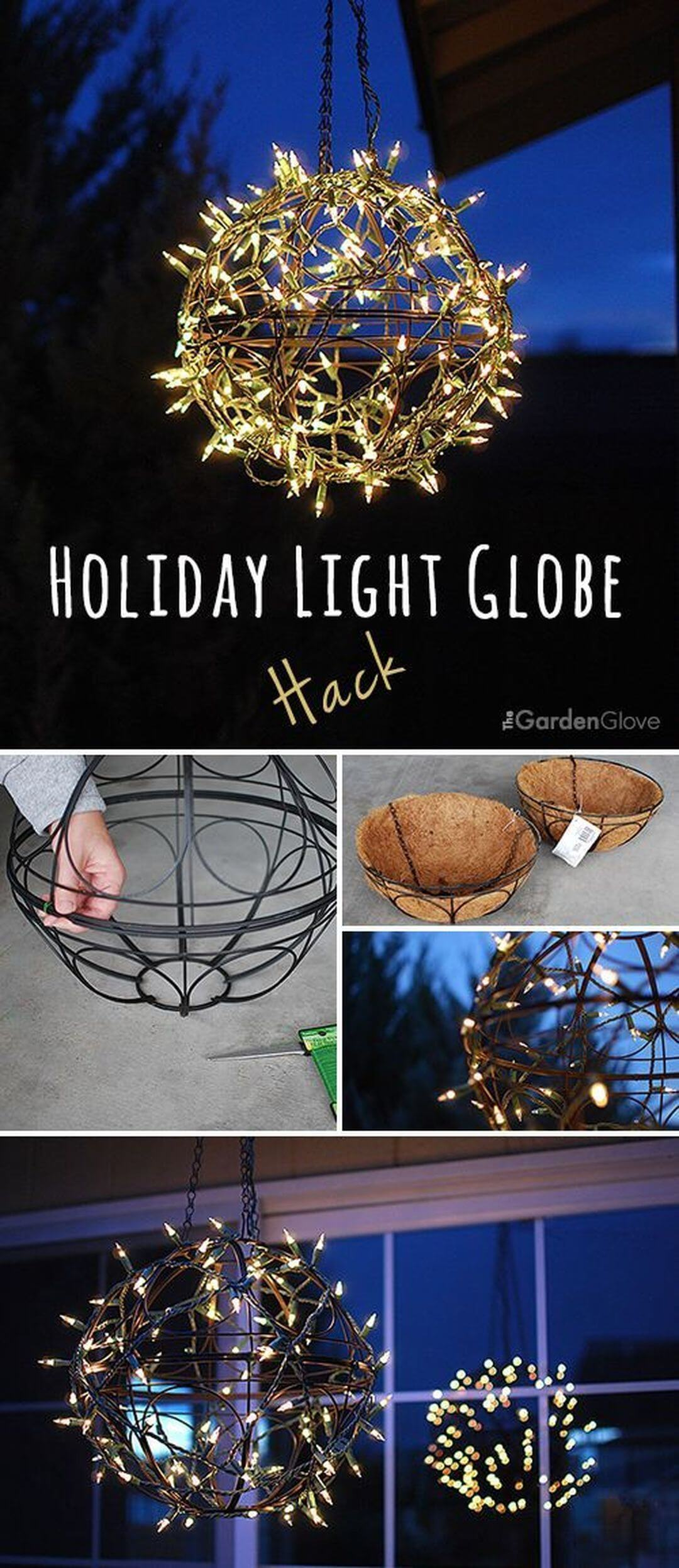 Use Planters to Make an Outdoor Light