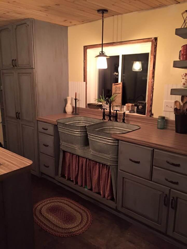 Vintage Laundry Tubs as a Farmhouse Sink