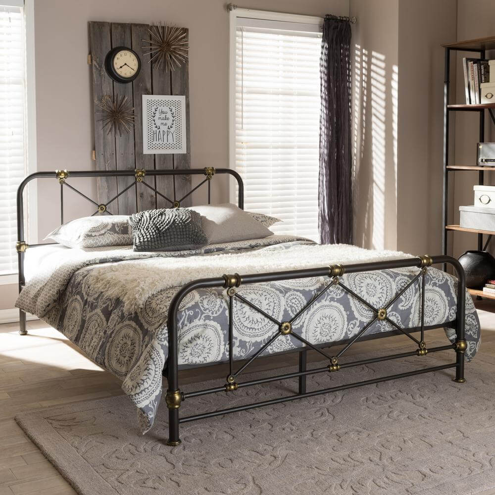Iron Framed Bed with Understated Décor