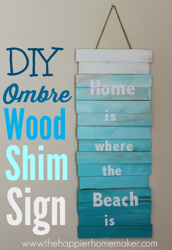 Wooden Sign Painted in Ombré Style