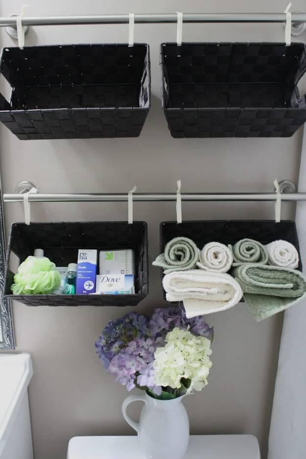 Hanging Towel Rack Basket Organizers
