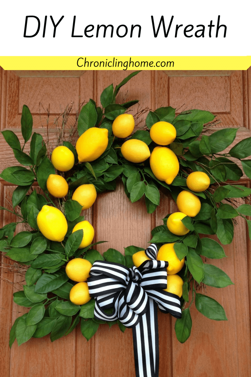 Sunny Wreath with Lemons and Leaves