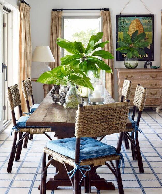 Comfortable Woven Chairs and Dramatic Plants