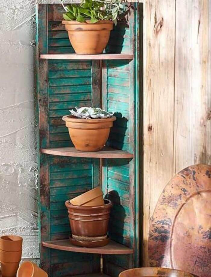 Corner Shelf for Potted Plants