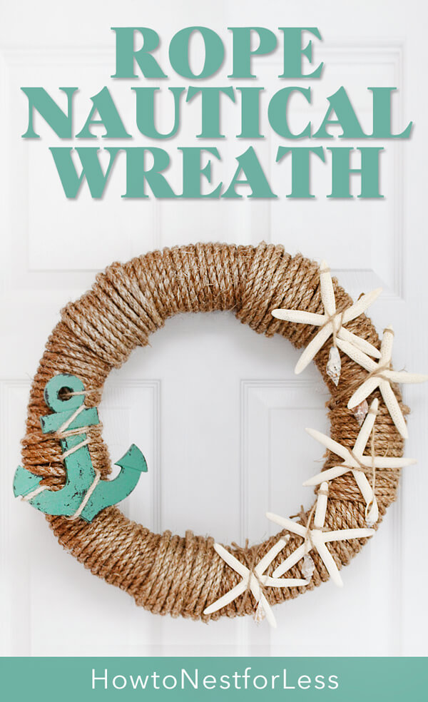 Make Your Own Nautical Wreath with Rope