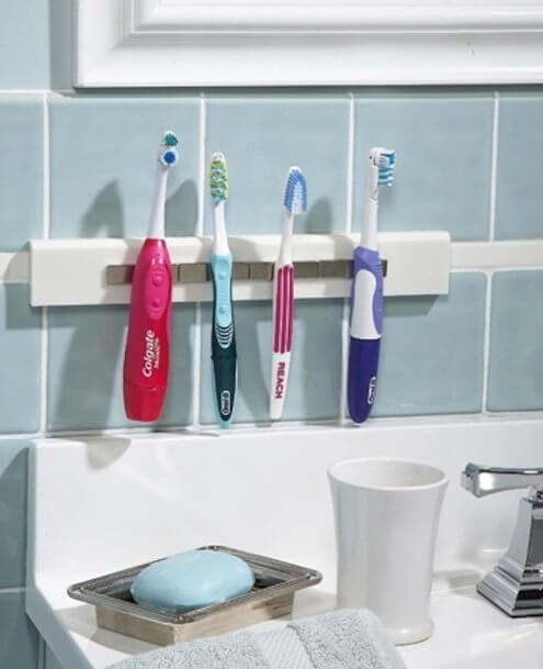 Easy to Clean Magnetic Toothbrush Strip