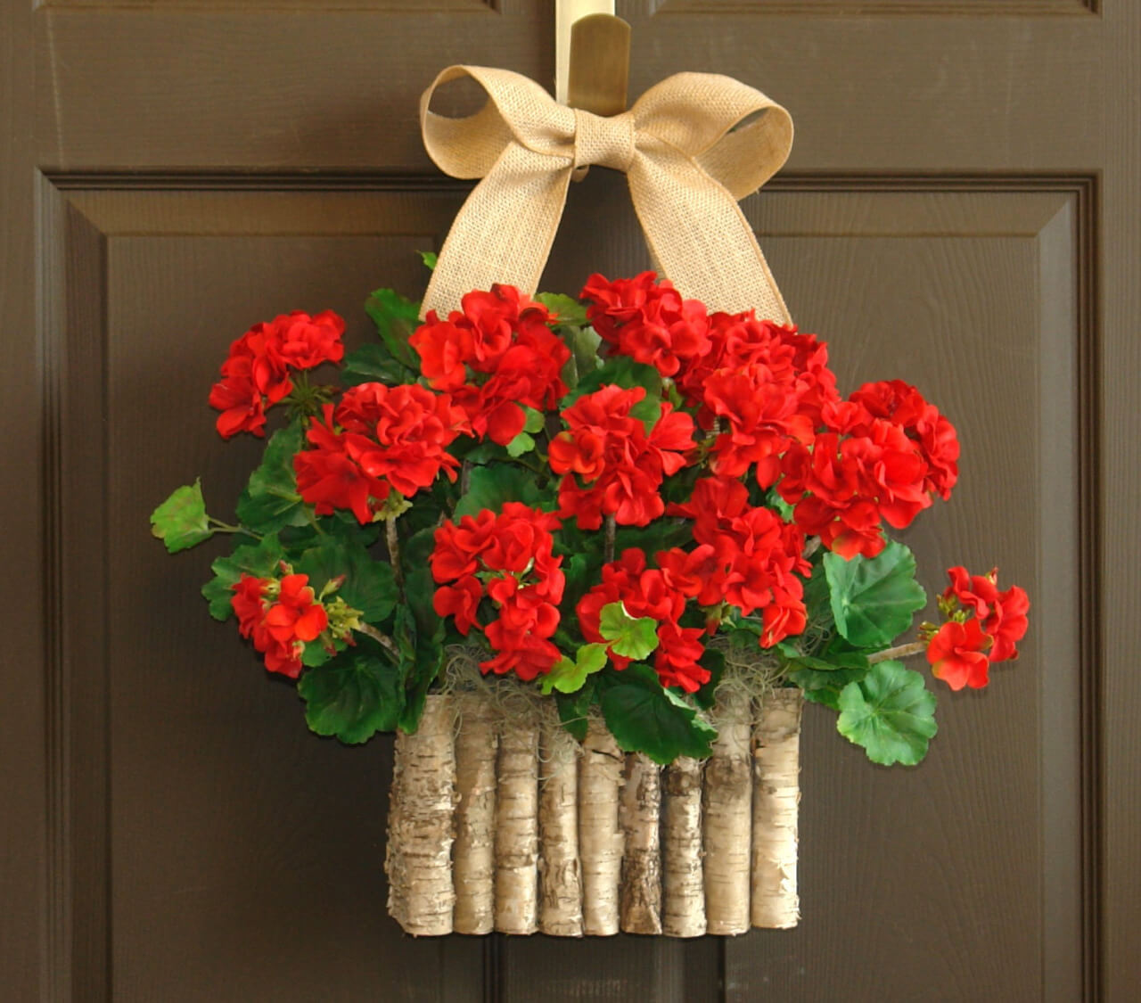 Summer Wreath Idea with Geraniums