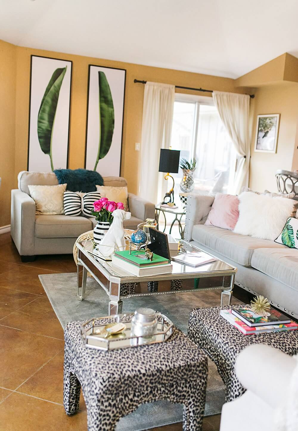 Inviting Living Room with Animal Print Accents