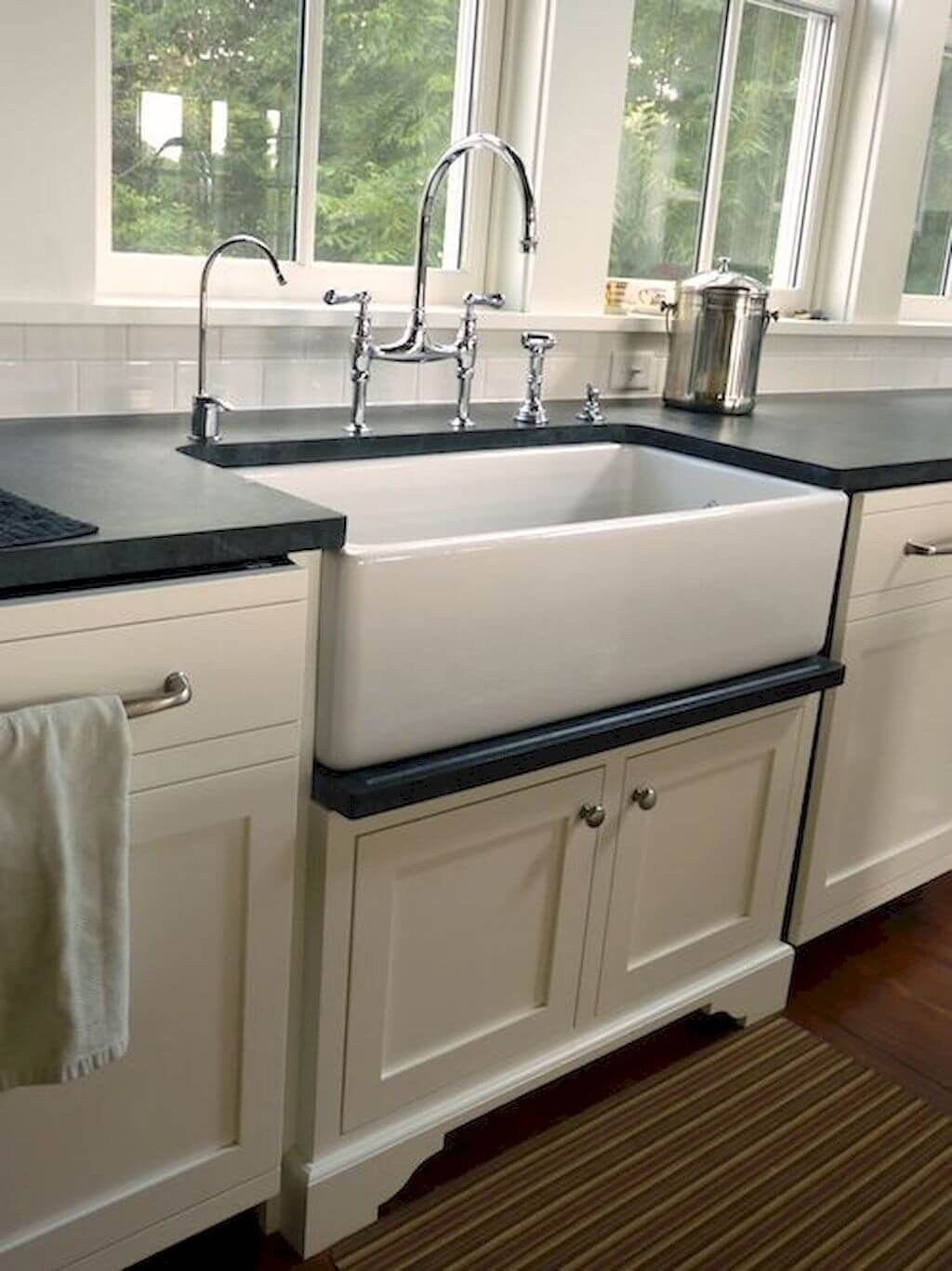 Basic White Sink With Polished Fixtures