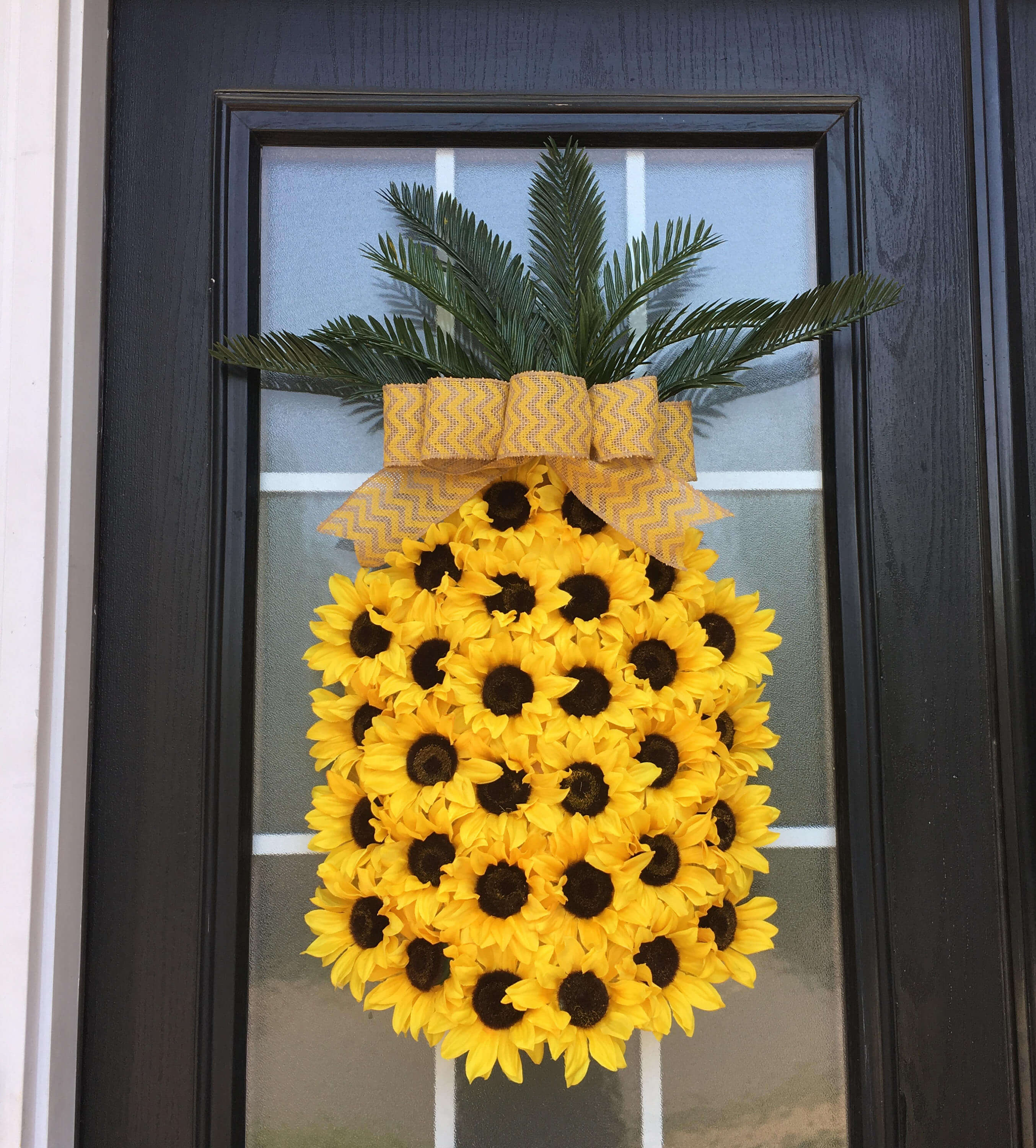 Sunflowers Make This Oversized Pineapple