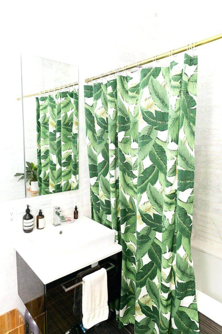 Simple Banana Leaf Shower Curtain
