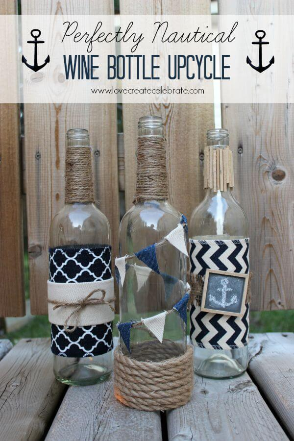 Upcycle Wine Bottles into Nautical Décor