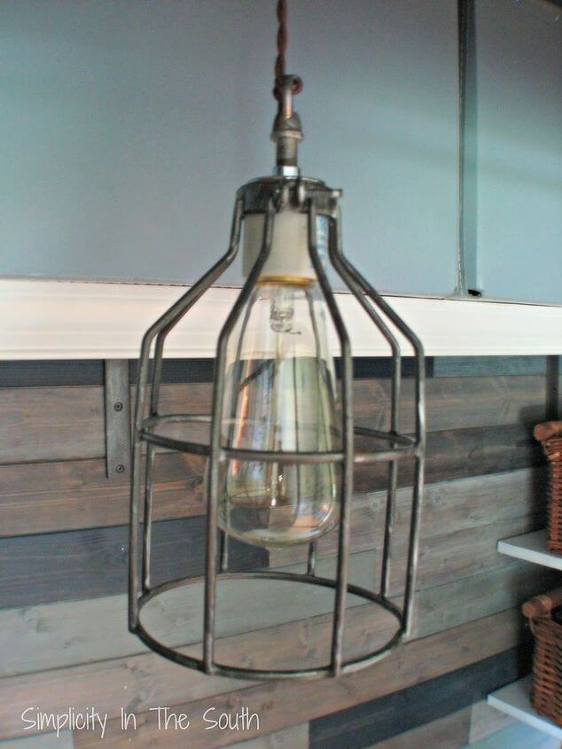 Metal Cage Lighting with Edison Bulbs