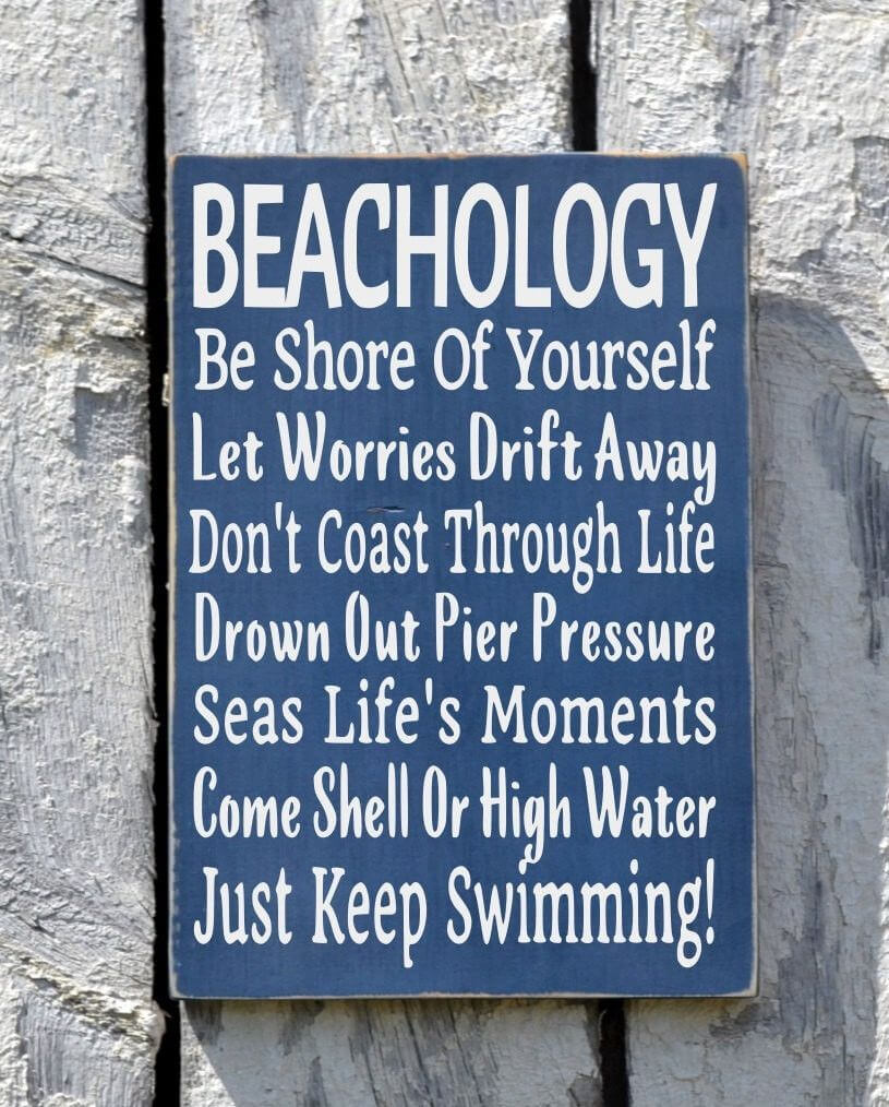 Good Advice Learned at the Beach