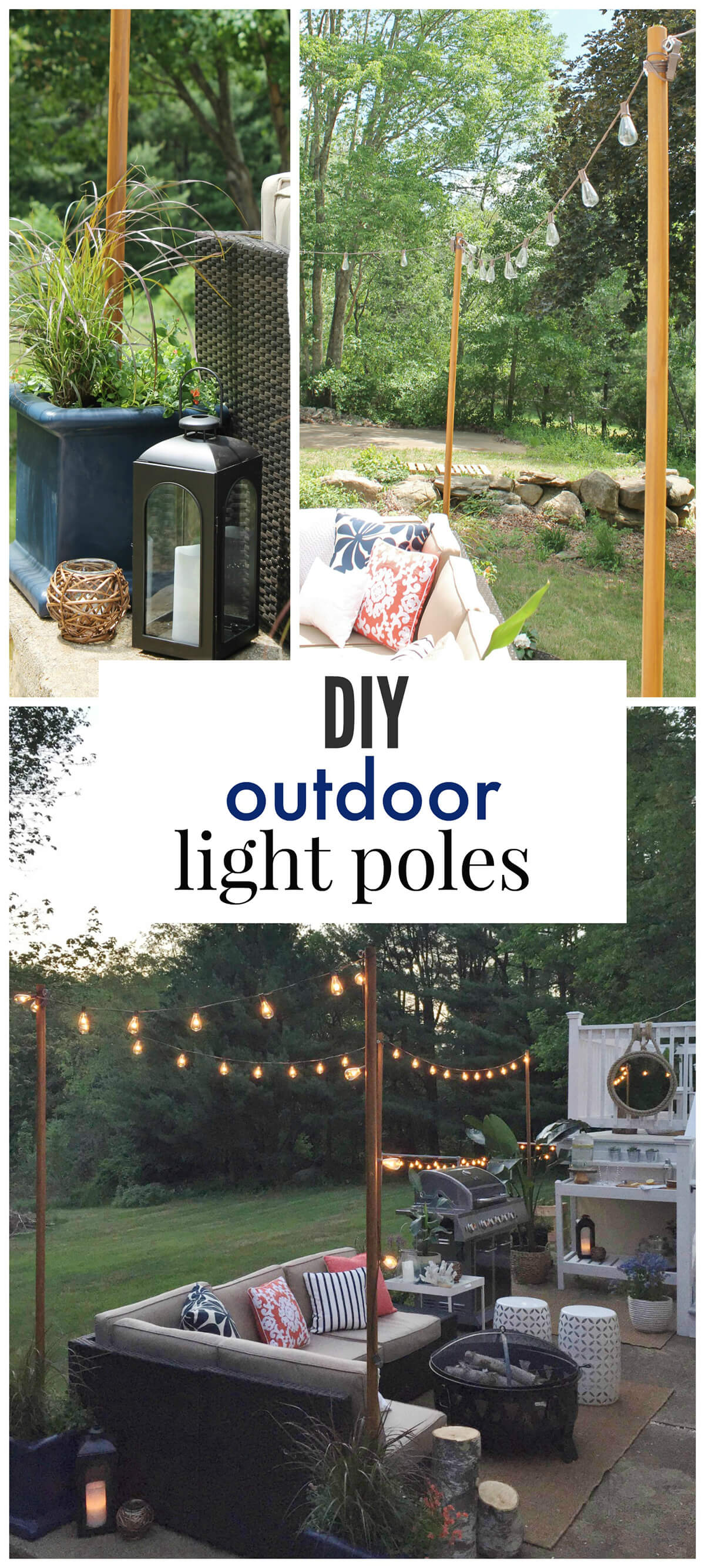 25 Best DIY Outdoor Lighting Ideas and Designs for 2020 on Backyard String Light Designs id=85781