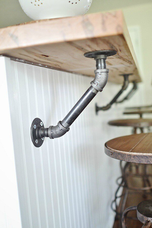 Plumbing Pipe to Support Bar Counter