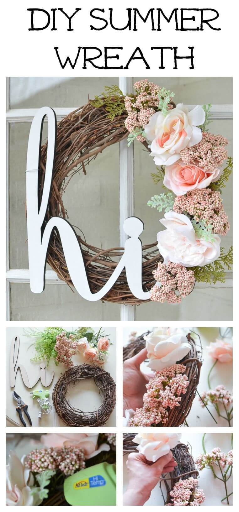 Rose Wreath with a Cheery Message