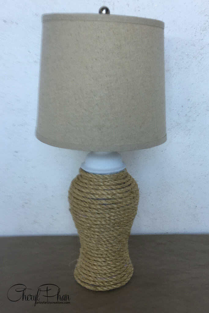 Rope Wrap Thrift Store Lamp Makeover