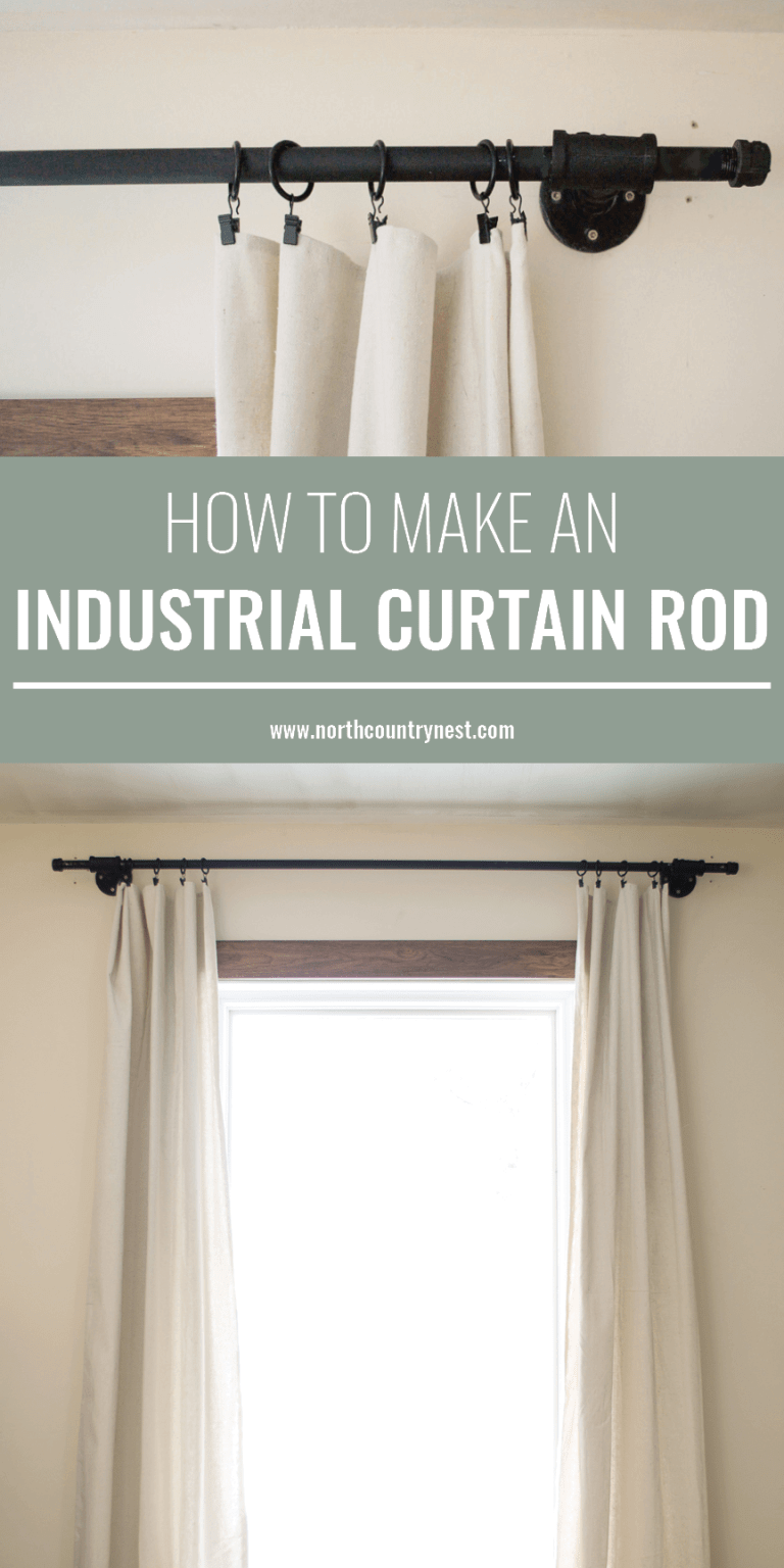 Easy to Make Industrial Curtain Rod