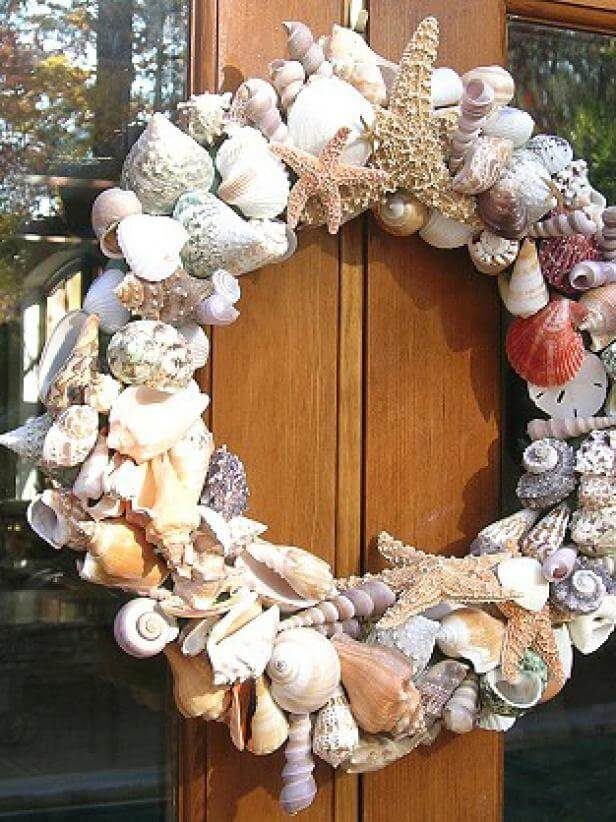 Bountiful Seashell Wreath for your Door