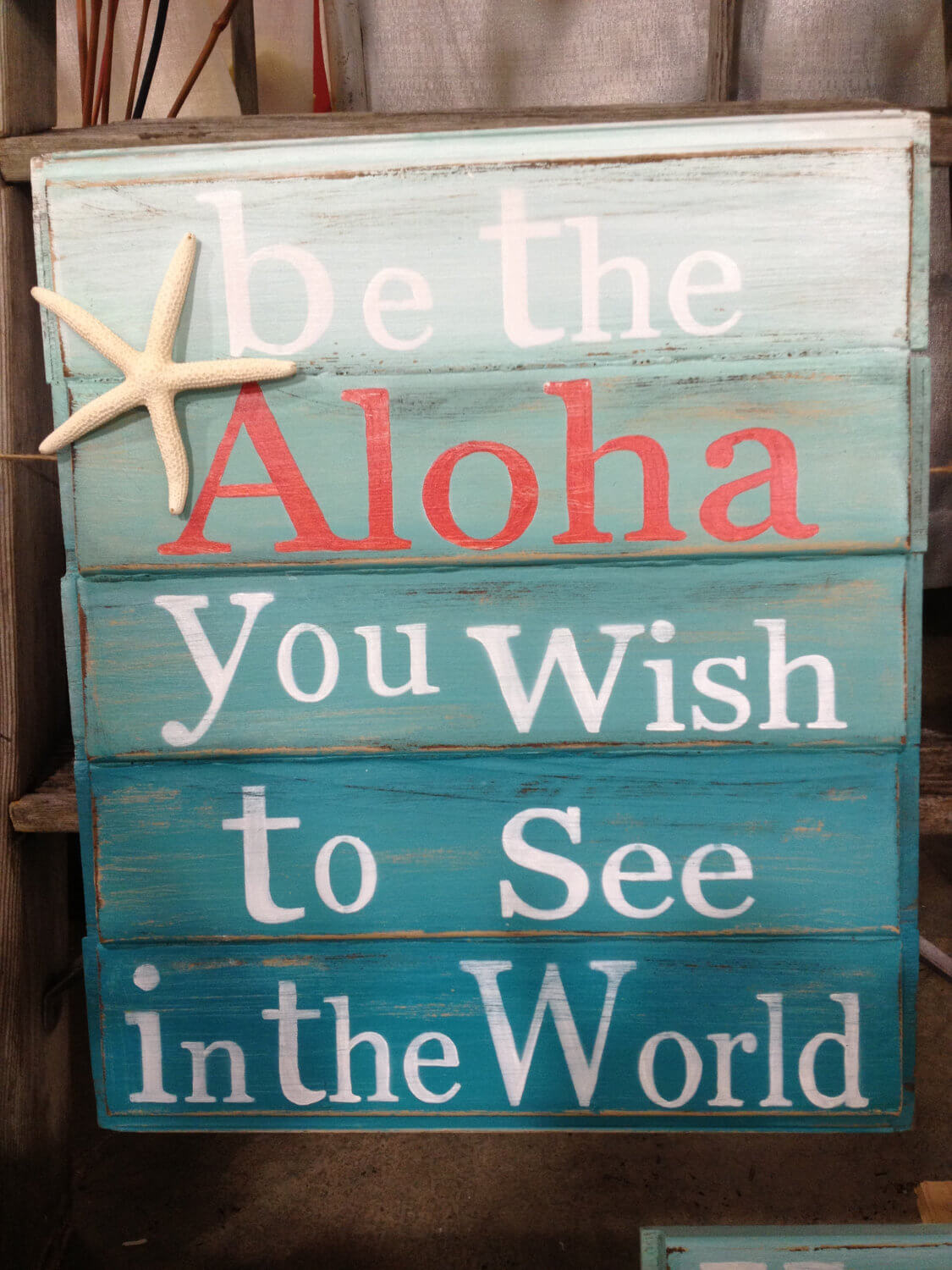 Hawaiian Themed Sign with a Fun Saying