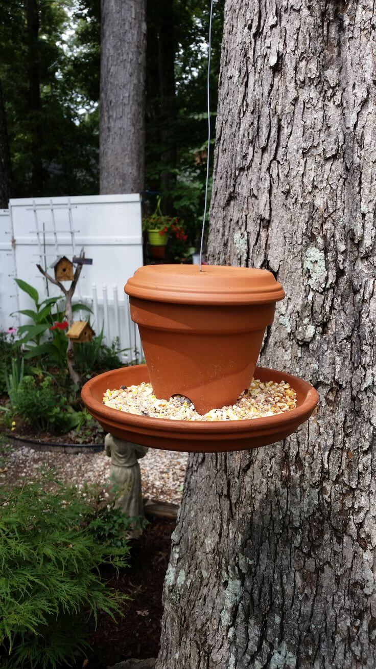 Bird Feeder DIY Clay Flower Pot Craft