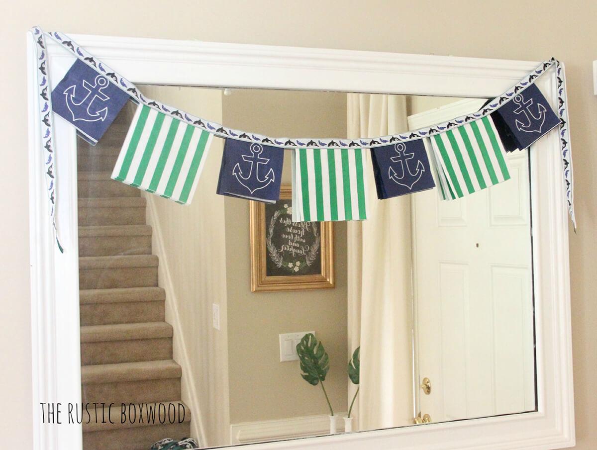 Anchor Style Paper Napkin Garland Banner