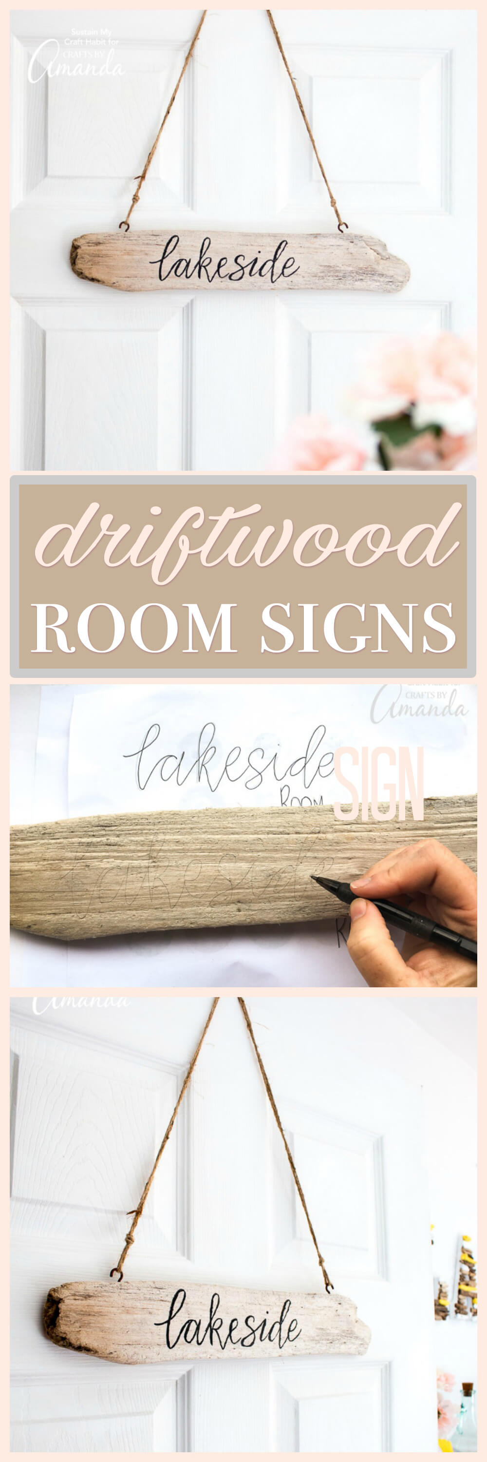 Make Your Own Driftwood Room Signs