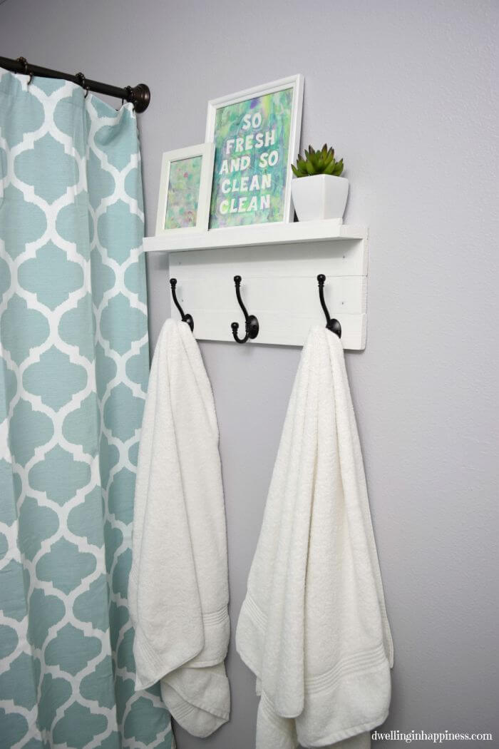 Combination Towel Rack and Storage Shelf