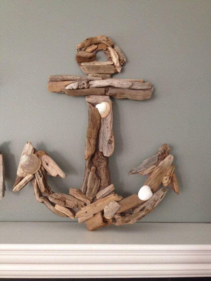 DIY Nautical Decor Idea with Driftwood