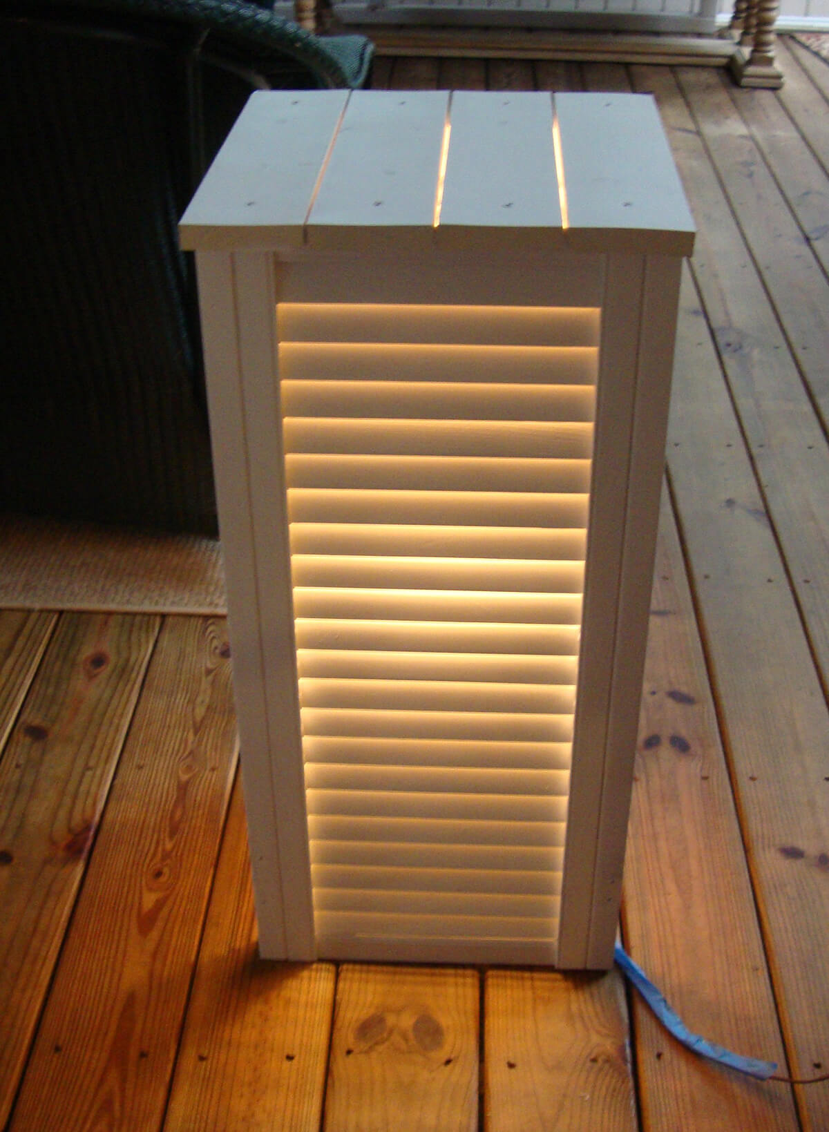 Side Table with Interior Lights