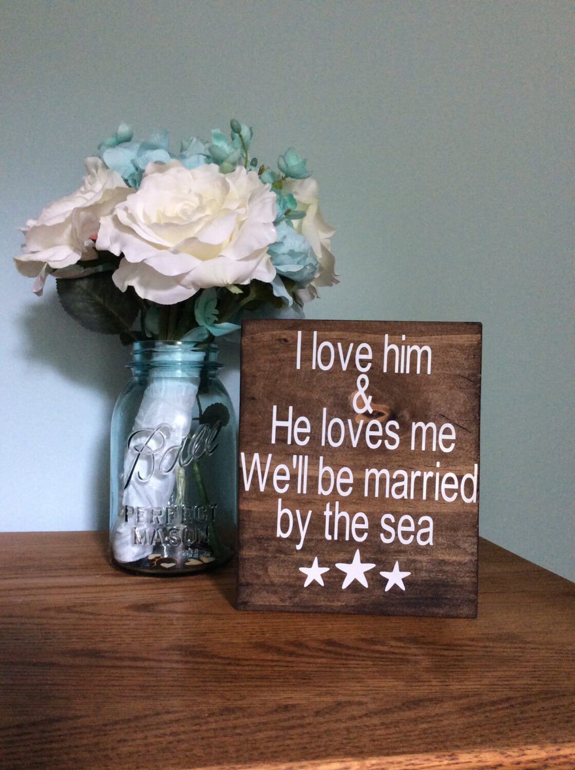 Cute Love Themed Wooden Sign