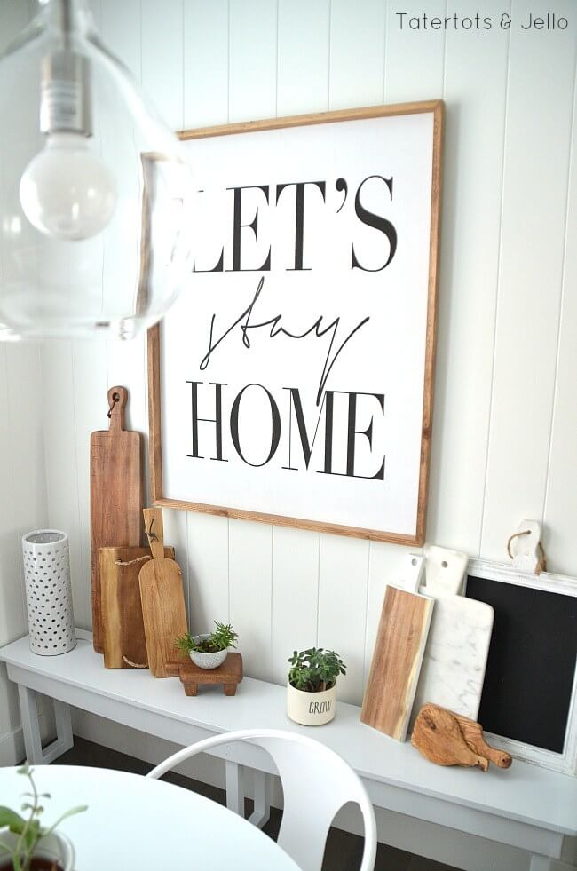 """Let's Stay Home"" Sign for the Kitchen"