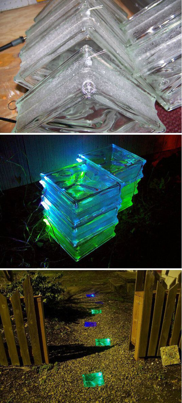 Glass Bricks Make Lighted Paving Stones