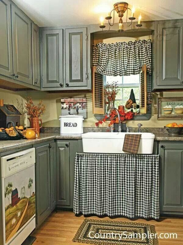 Appealing Country Kitchen with Rustic Touches