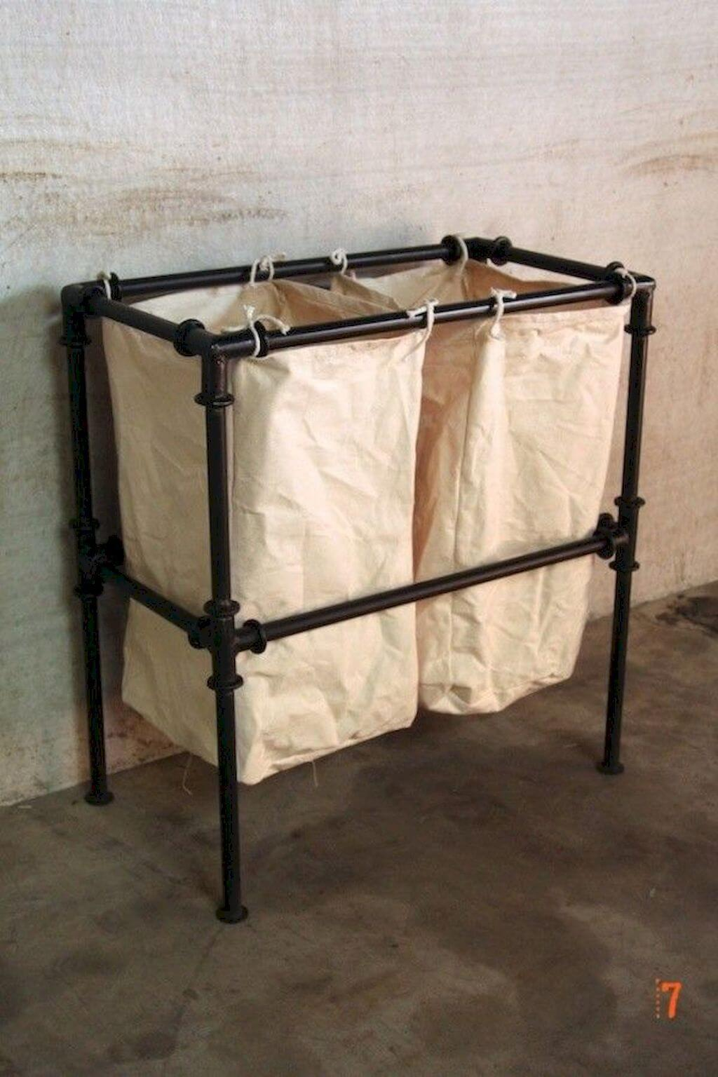 Practical Clothes Hamper with Plumbing Pipe