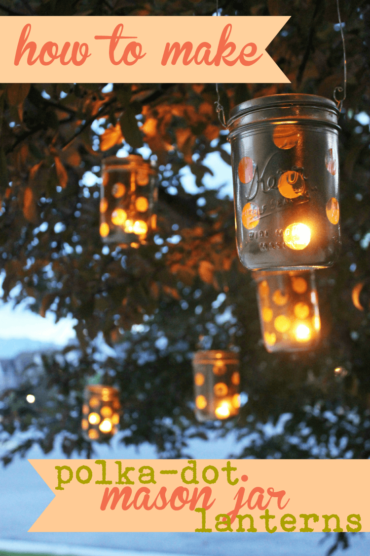 DIY Outdoor Lighting Idea with Mason Jars