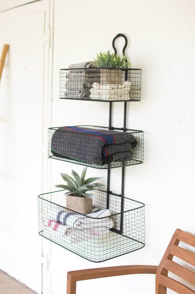 Graduated Wall Baskets for Bathroom Essentials