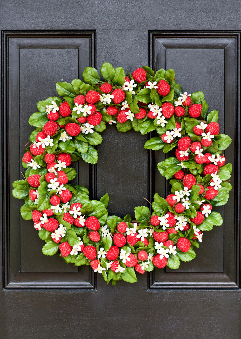 Strawberries and Blossoms on a Wreath