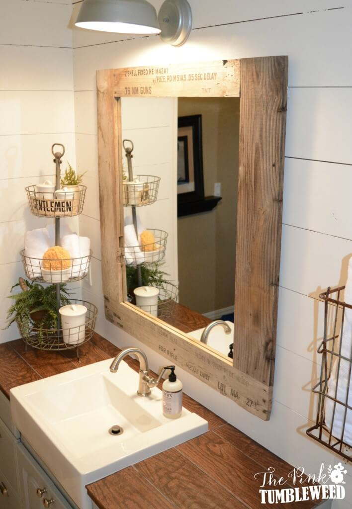40 Best Farmhouse Mirror Ideas And Designs For 2021
