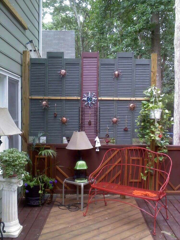 Garden Wall Display with Hanging Suns