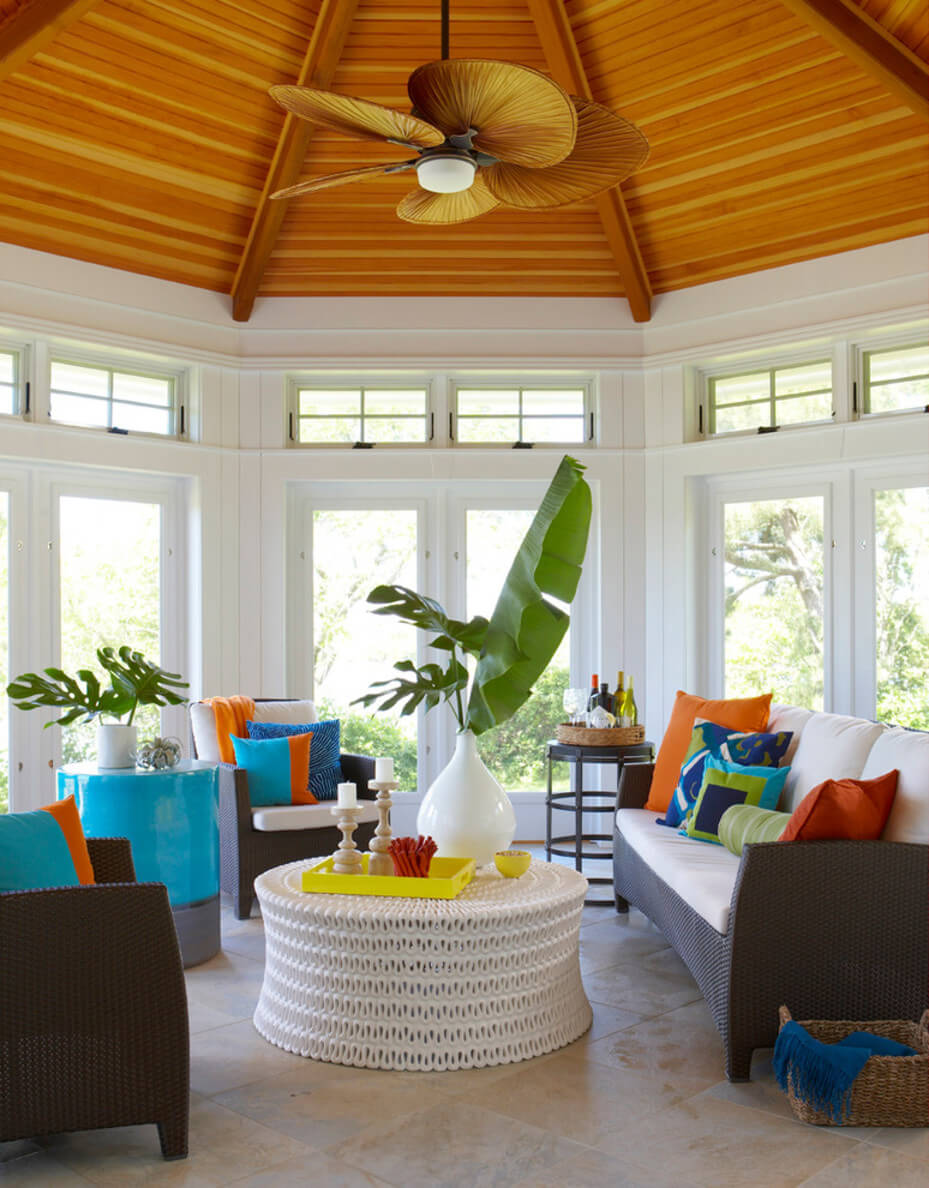 Bright and Airy Living Room with Bright Colors