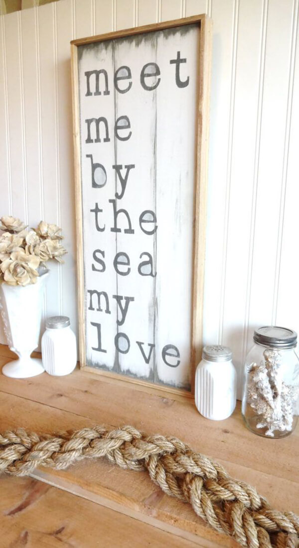 Loving Beach Themed Wooden Sign