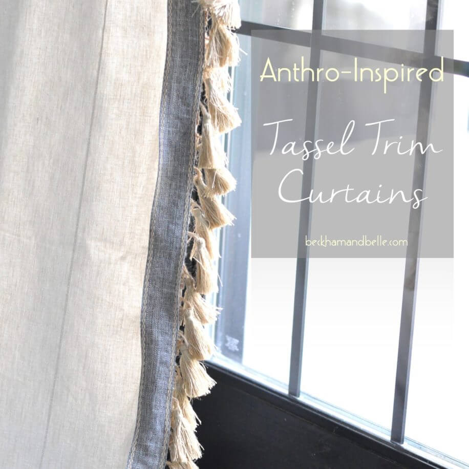 Farmhouse Window Treatment Idea with Tassels