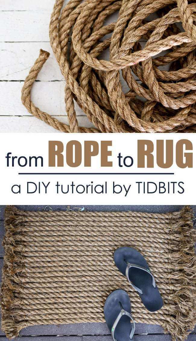 DIY Nautical Decor Idea for Rope Rugs
