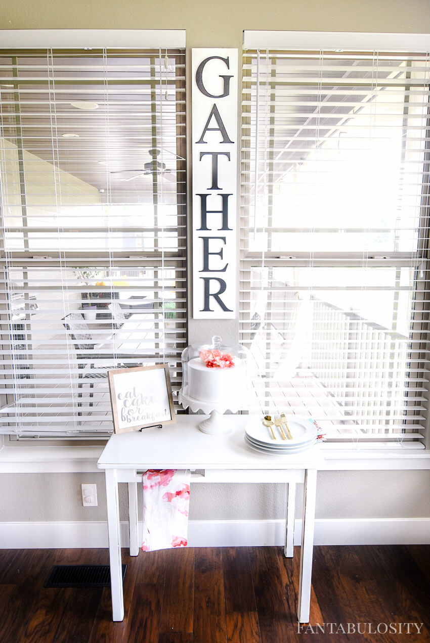 "Vertical ""Gather"" Sign for the Kitchen"
