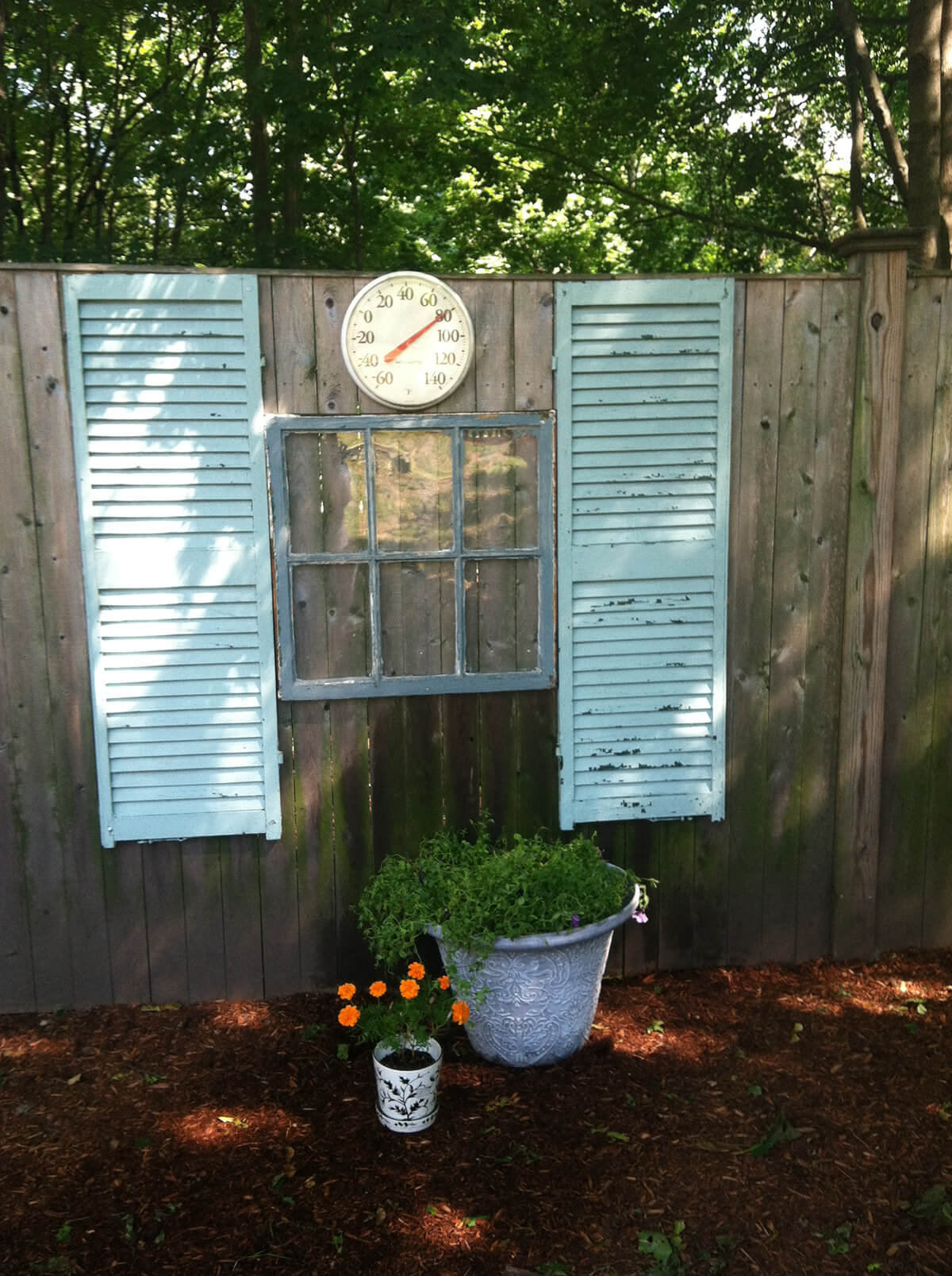 Wall Display with Shutters and Old Windows