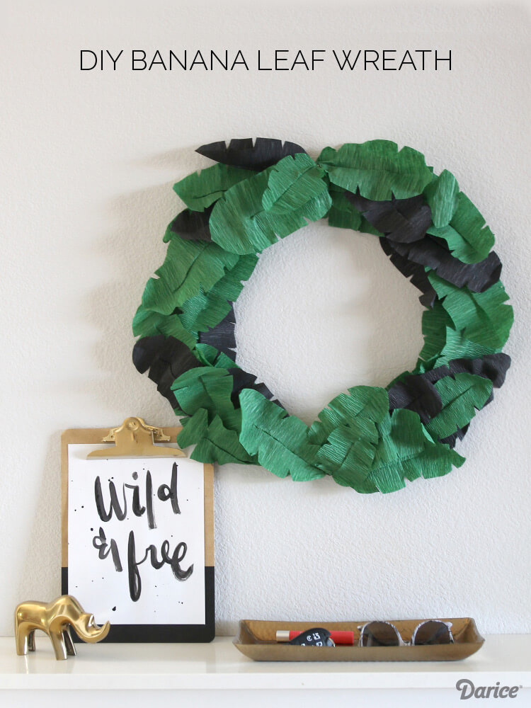 Tropical Style with a Banana Leaf Wreath