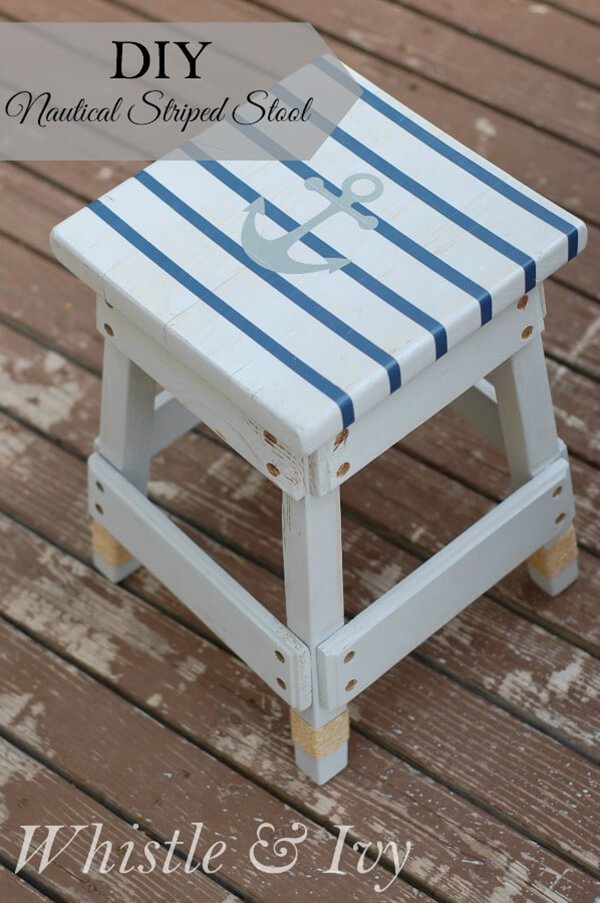A Little Step Stool with Nautical Flair