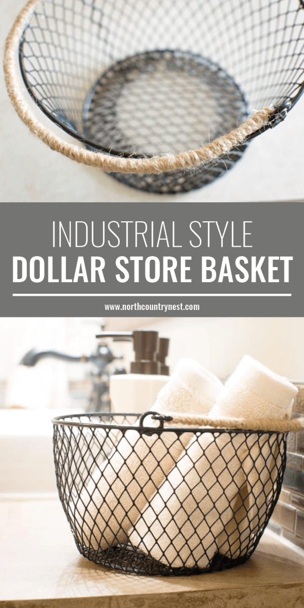 Find an Industrial Style Basket Inexpensively